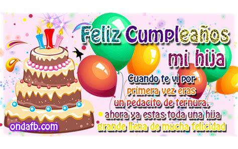 imagenes para cumpleaños hija feliz cumplea 241 os hija mia