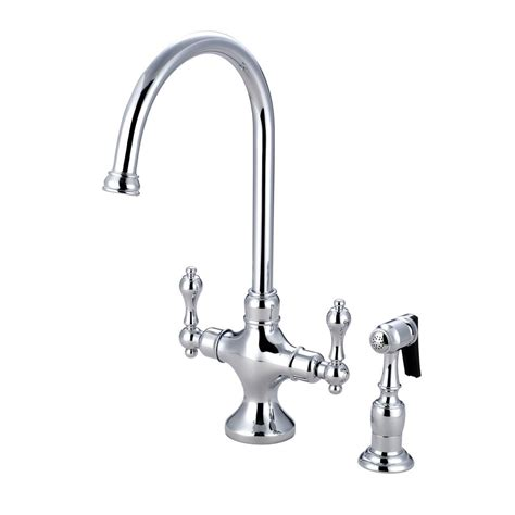 retro kitchen faucets kingston brass vintage 2 handle standard kitchen faucet in