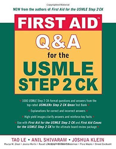 reference book for usmle aid qanda for the usmle step 2 ck by tao le
