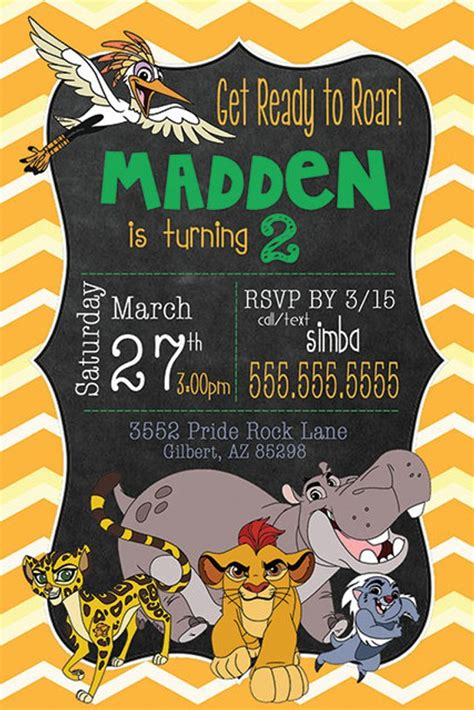 The Lion Guard Birthday Invitation Personalized Birthday Free Guard Invitation Template