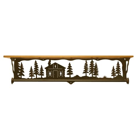 Cabin In The Pines cabin in the pines bath wall shelf 34 inch