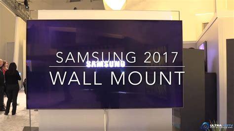 samsung q style neues wall mount system vorgestellt ces2017