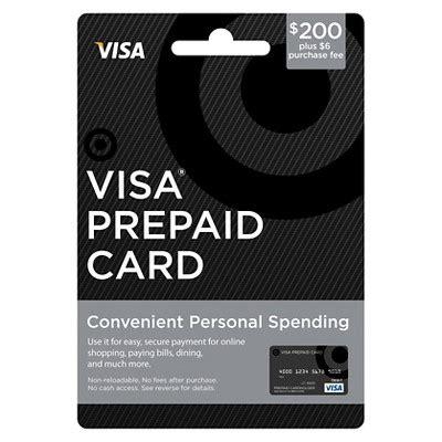 My Prepaid Gift Card - visa prepaid card 200 6 fee target