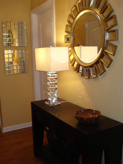 Entryway Furniture Target Home Goods Mirror And Home Goods Lamp Transitional