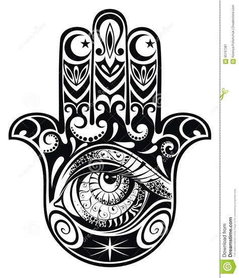 hamsa hand with eye stock vector illustration of faith