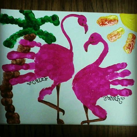 flamingo craft projects handprint flamingo handprint footprint ideas
