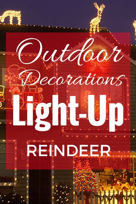 decorations light up reindeer light up reindeer outdoor decoration prep