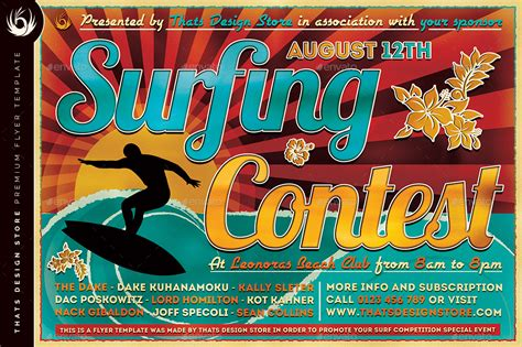 templates for contest flyers surfing contest flyer template by lou606 graphicriver