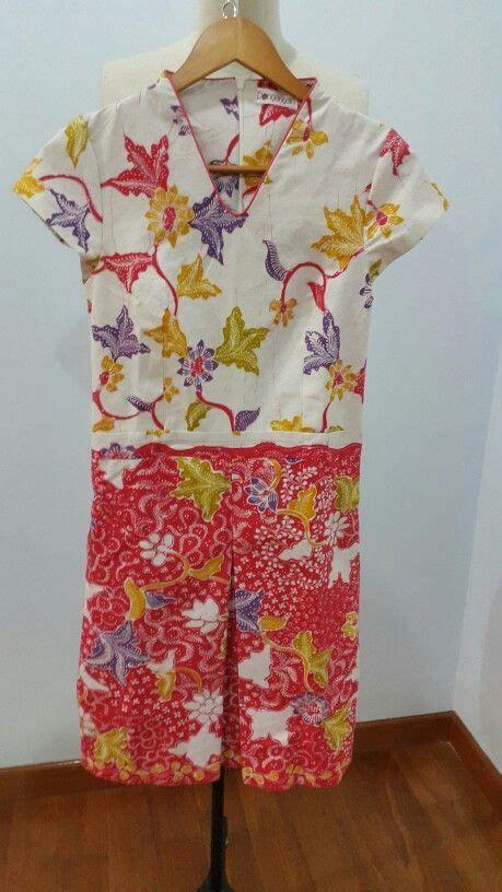 Dress Batik Tulis Kombinasi Embos dress made from batik tulis lasem for custom order dress