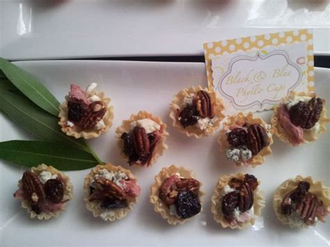 Appetizers For Wedding Shower by Black Blue Phyllo Cups Appetizer Baby Bridal Shower