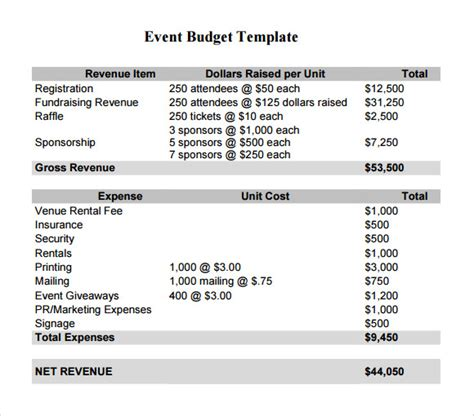 event planning budget template event budget template cyberuse