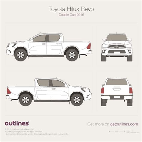 2015 toyota hilux drawings outlines