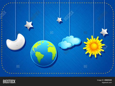 imagenes sol y luna illustration hanging sun moon vector photo bigstock