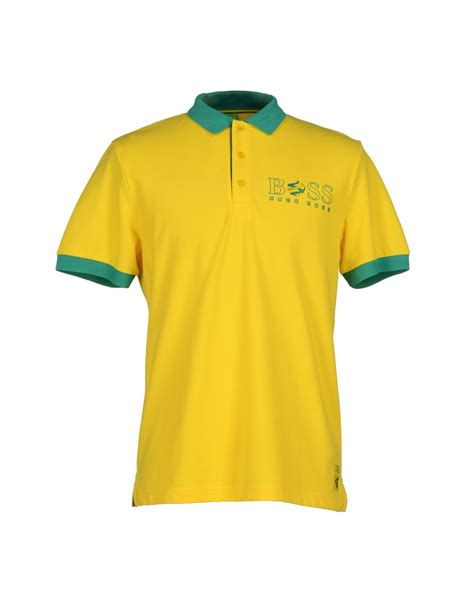 Polo Yellow lyst green polo shirt in yellow for