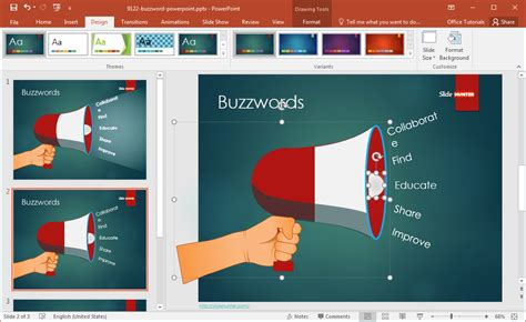 Free Buzzword Powerpoint Template How To Change Template In Powerpoint