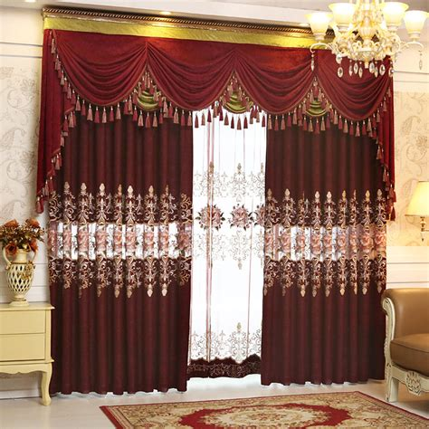 wohnzimmer gardinen set luxury color curtain sheers valances set for