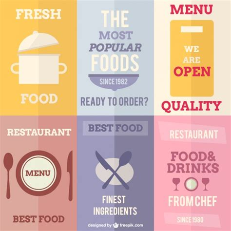 Restaurant posters Vector   Free Download
