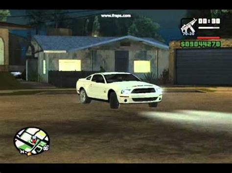 gta san andreas ford shelby gt500 mustang mod youtube