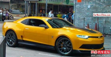 2014 Chevrolet Camaro Concept by Transformed Bumblebee Spotted On T4 Set In Hongkong