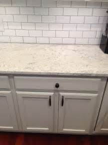 White Tile Backsplash Kitchen by Thornapple Kitchen Before And After Romano Blanco