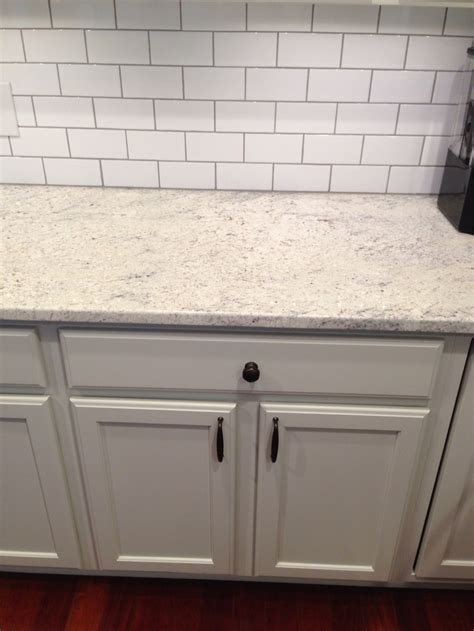 light gray subway tile backsplash thornapple kitchen before and after romano blanco granite white subway tile backsplash gray
