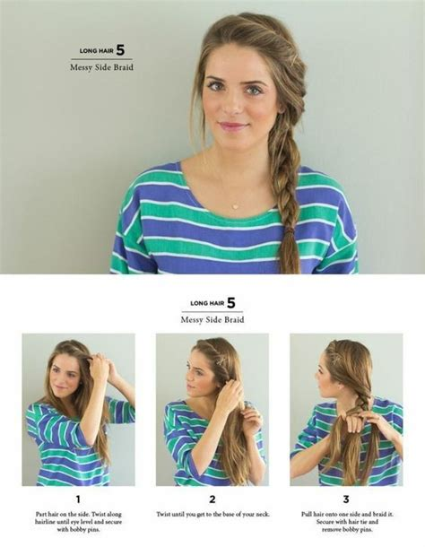 how to do a messy side braid messy side braid easy hairstyles you can do in 5 minutes