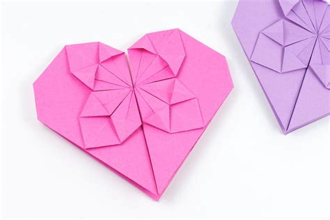 How To Make Origami Hearts - how to make an origami