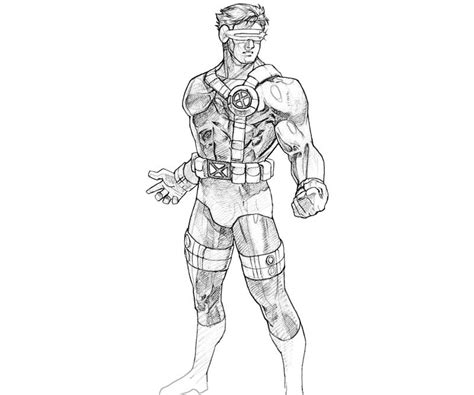 free coloring pages of cyclops xmen