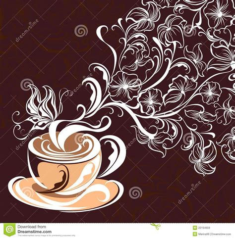 wallpaper coffee vector coffee background vector illustration royalty free stock