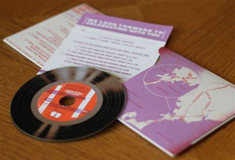 vinyl cd wedding invitations vinyl album style wedding invitations invitation crush