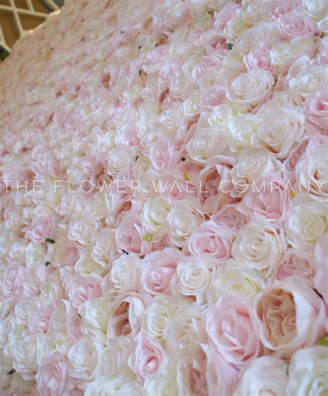 blush colored flowers the flower wall company creating reusable easy to