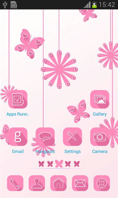 theme line android pink launcher theme pink free android app android freeware