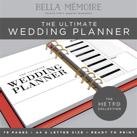 peculiar printable wedding planner instant download ultimate wedding printable wedding planner metro collection instant