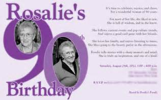 90th birthday invitations templates