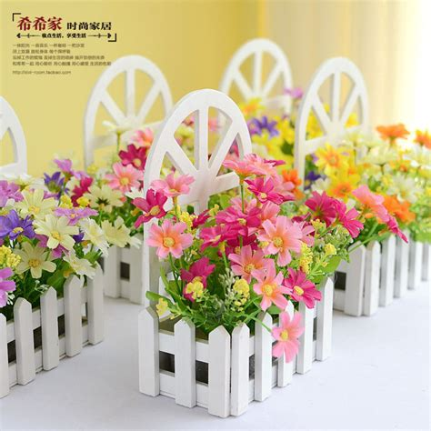 living room flower decorations aliexpress buy wall fence kit pastoral artificial flowers silk flowers living room bedroom
