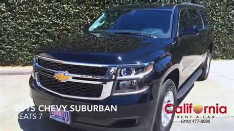 chevy suburban rental los angeles youtube