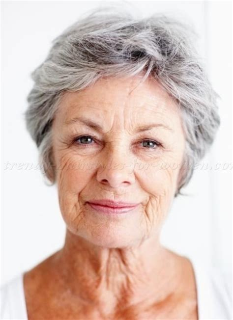 Square Faced Older Women With Grey Hairstyles | older women hairstyles short casual hairstyles for