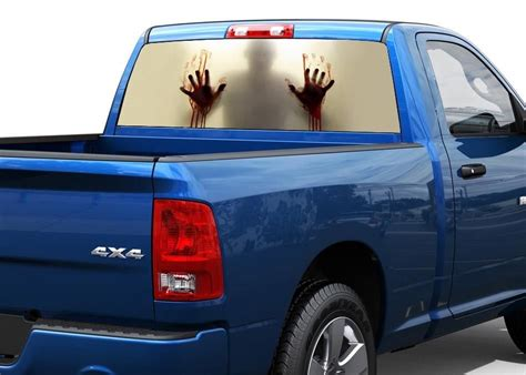 Window Decals For Trucks by Zombie Behind The Glass Blood Rear Window Graphic Decal