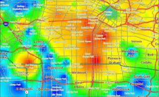 Crime Map Los Angeles by La Crime Heat Map Gnewsinfo Com