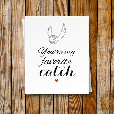 Harry Potter Gift Card - harry potter printable card birthday card romantic snitch card geek gift greeting