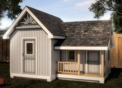 playhouse shed plans storage playhouse shed 16x12 plan diy projects pinterest