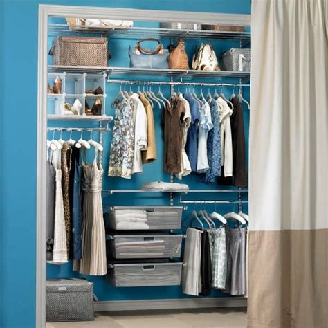 Small Organized Closet by Cabinets Shelving How To Organize A Small Blue