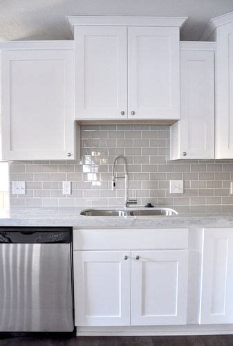 gray glass tile kitchen backsplash smoke glass subway tile in 2018 kitchen ideas