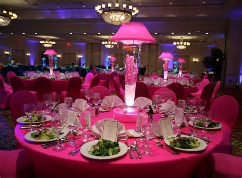 Lighted Centerpieces by Lighted Lshades And Vases Receptions Pink And Wedding