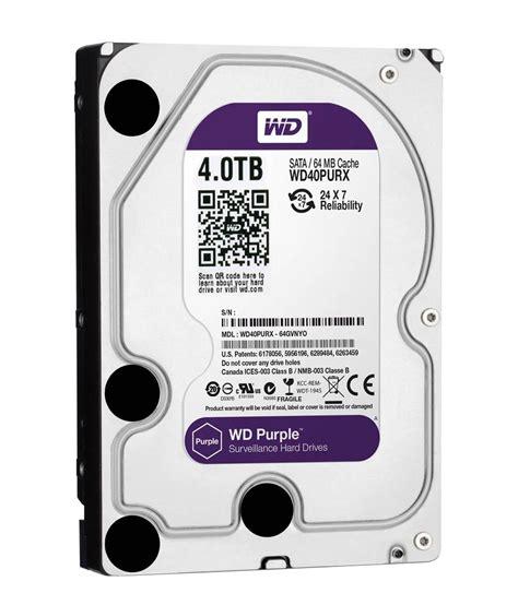 Hardisk 4tb western digital purple wd40purx 4tb drive