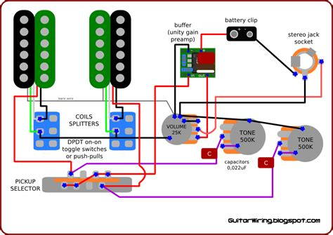 guitar wiring circuit diagram wiring diagram with