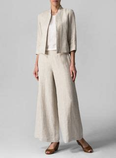 Set Kulot Linen cropped blazer on blazers blazer and