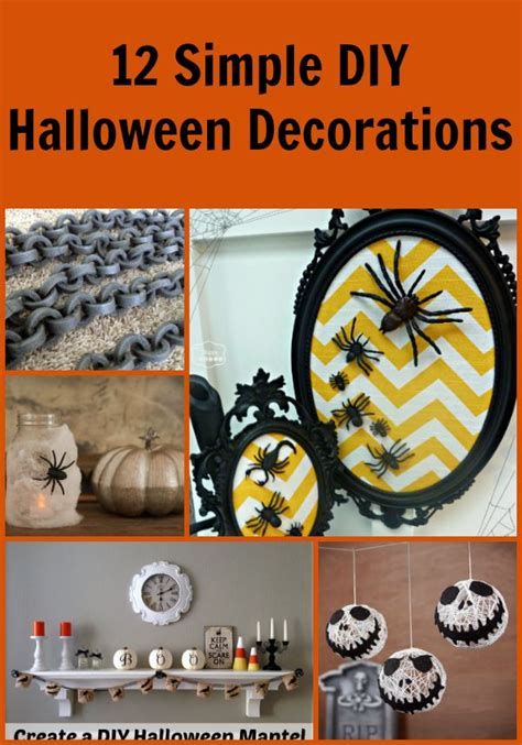 40 easy diy halloween decorations homemade do it 12 simple diy halloween decorations living a frugal life