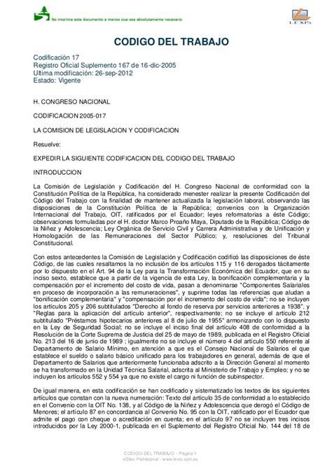 codigo civil del ecuador 2016 para descargar codigo trabajo ecuatoriano 2016 codigo de trabajo pdf 2016