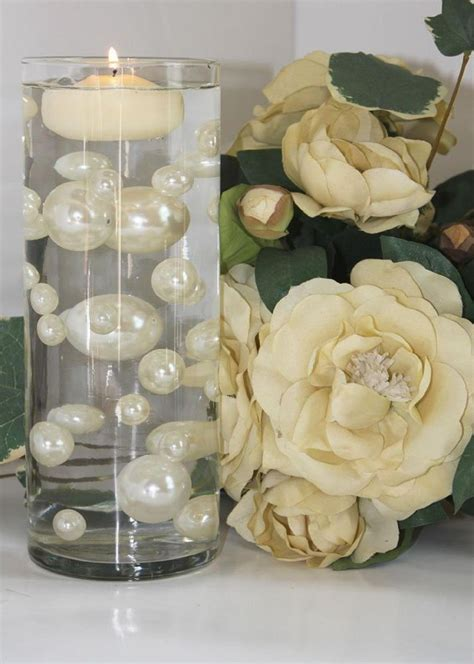 water pearl centerpieces wedding centerpiece ideas with water